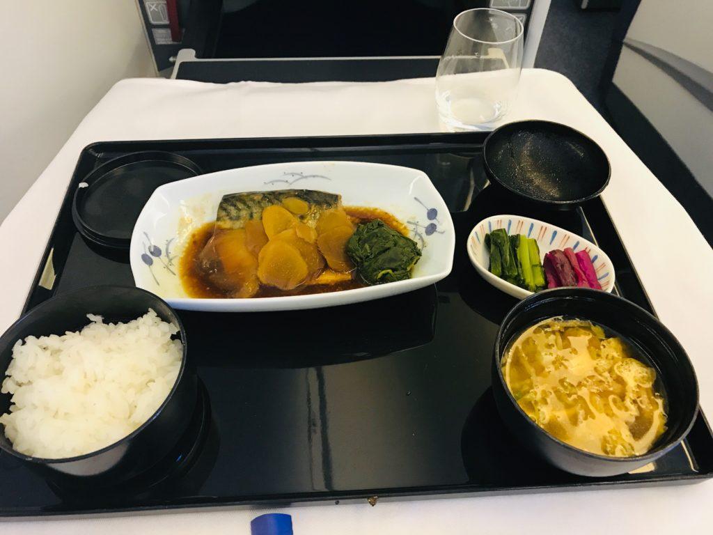 ANA ビジネスクラス 食事